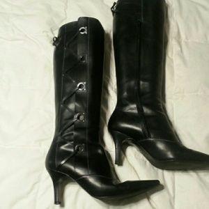 Farragamo knee boots.worn once. Sz 9